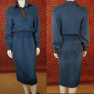JEENE Vintage Knit dress S/M